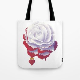 Painted Rose cut out Tote Bag