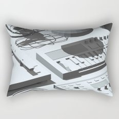 Low Poly Studio Objects 3D Illustration Grey Rectangular Pillow