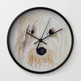 Gina the PBGV Wall Clock
