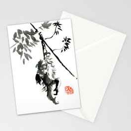 orangutan in tree 02 Stationery Cards