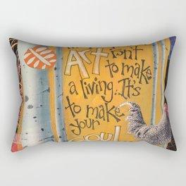 Art and Soul Rectangular Pillow