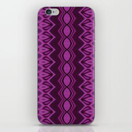 Blueberry stripes iPhone Skin