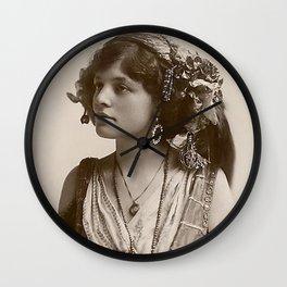 BEAUTIFUL GYPSY GIRL, Circa 1900 Wall Clock