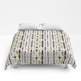 Punky retro graphic Comforters