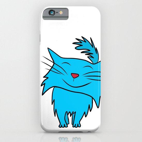 Happy Blue Cat iPhone & iPod Case