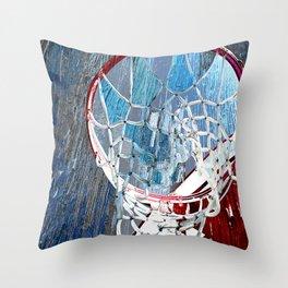 Basketball art spotlight vs 2 Throw Pillow