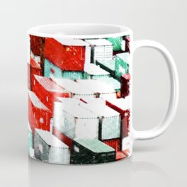 Mint Red Shipping Containers  Coffee Mug