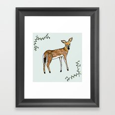Fawn Framed Art Print