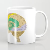 brain Mugs featuring Brain by FACTORIE
