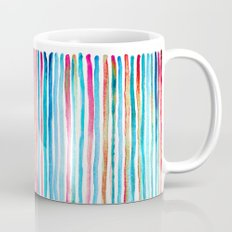 Watercolor Stripes in Pink, Coral, Blue & Aqua Mug