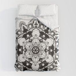 sacred geometry mandala dotwork Comforters