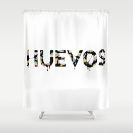 Huevos Shower Curtain