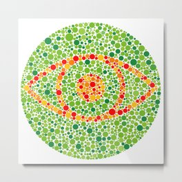Colour Blindness Eye Metal Print