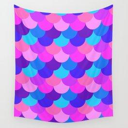 Scalloped Confetti in Electric Orchid Multi Wall Tapestry