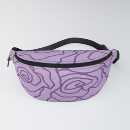 Lavender Dreams Roses - Light with Dark Outline - Color Therapy Fanny Pack