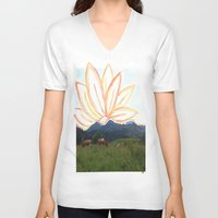 switzerland V-neck T-shirts featuring switzerland by Anna Bergland