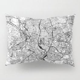 Madrid White Map Pillow Sham