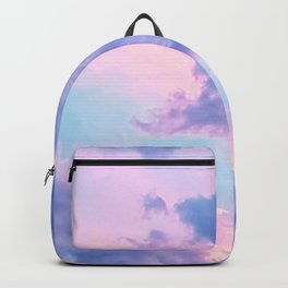 Pastel Purple Lilac Fluffy Fantasy Fairytale Sunset Clouds In The Sky Backpack