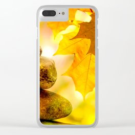 Fall meditation Clear iPhone Case