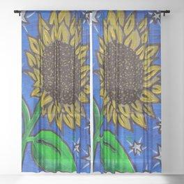 Boo's Sunflower Sheer Curtain