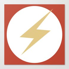 The Flash Vector Logo Canvas Print