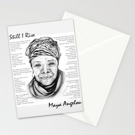 Still I Rise Print Maya Angelou Poem Stationery Cards