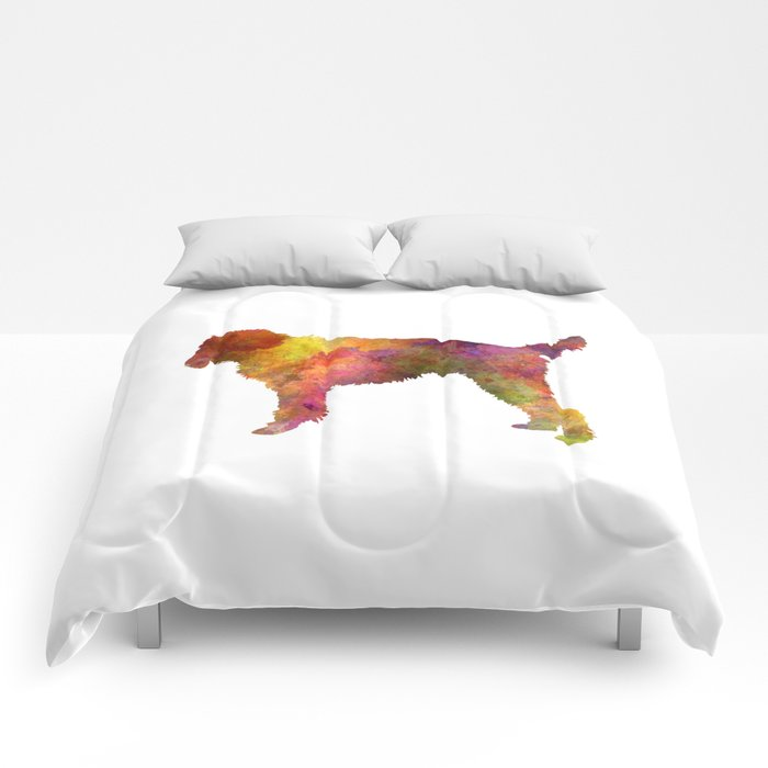 Medium Griffon Vendeen in watercolor Comforters