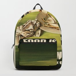 Vintage poster - Food is a Weapon Backpack