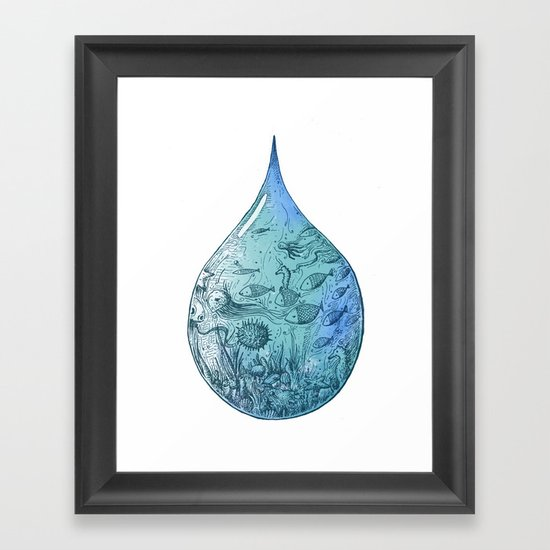 OCEAN DROP Framed Art Print