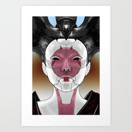 Robot Geisha V1 Art Print