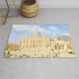 Franz Alt - St. Peter's Square in Rome - Digital Remastered Edition Rug