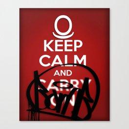 KEEP CALM AND BOMB!  Canvas Print