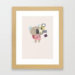Koala Camera Framed Art Print