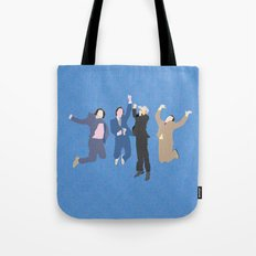 The Channel 4 news team Tote Bag