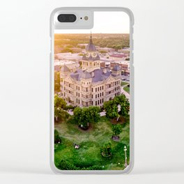 Denton, Texas Downtown Square and Courthouse Clear iPhone Case