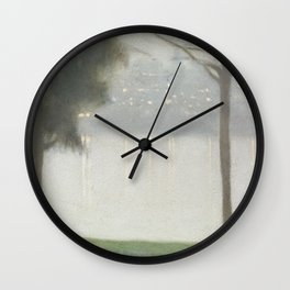 Across the Yarra - Clarice Beckett - Australian abstract Realism Wall Clock