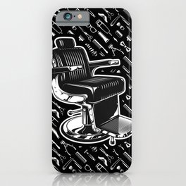 Barber Chair Style iPhone Case
