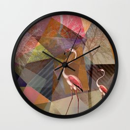 FLAMINGOS P23-C Wall Clock
