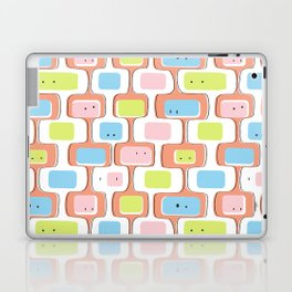 Retro geometric faces Laptop & iPad Skin
