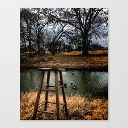 Stool - Color Canvas Print