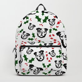 CHRISTMAS WITH YOUR ENGLISH BULLDOG AND CHRISTMAS GIFT WRAPPED FROM MONOFACES IN 2020 Backpack