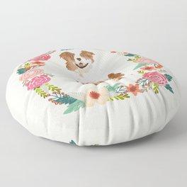 australian shepherd red merle floral wreath dog gifts pet portraits Floor Pillow