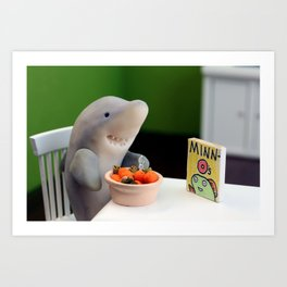 Breakfast for Sharks Art Print