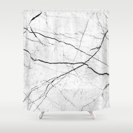 White marble abstract texture pattern Shower Curtain