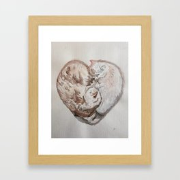 Cuddle Heart Framed Art Print