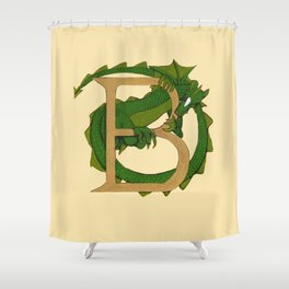 Dragon Letter B 2019 Shower Curtain