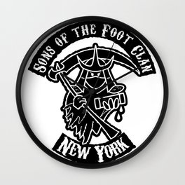 Sons of the Foot Clan Wall Clock