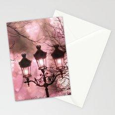 Paris Holiday Sparkling Lanterns Stationery Cards