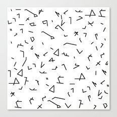 short lines Canvas Print