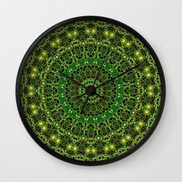 Forest Light Mandala Wall Clock